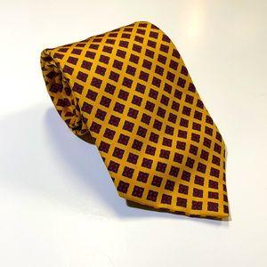 Burberry men's gold floral neck tie EUC